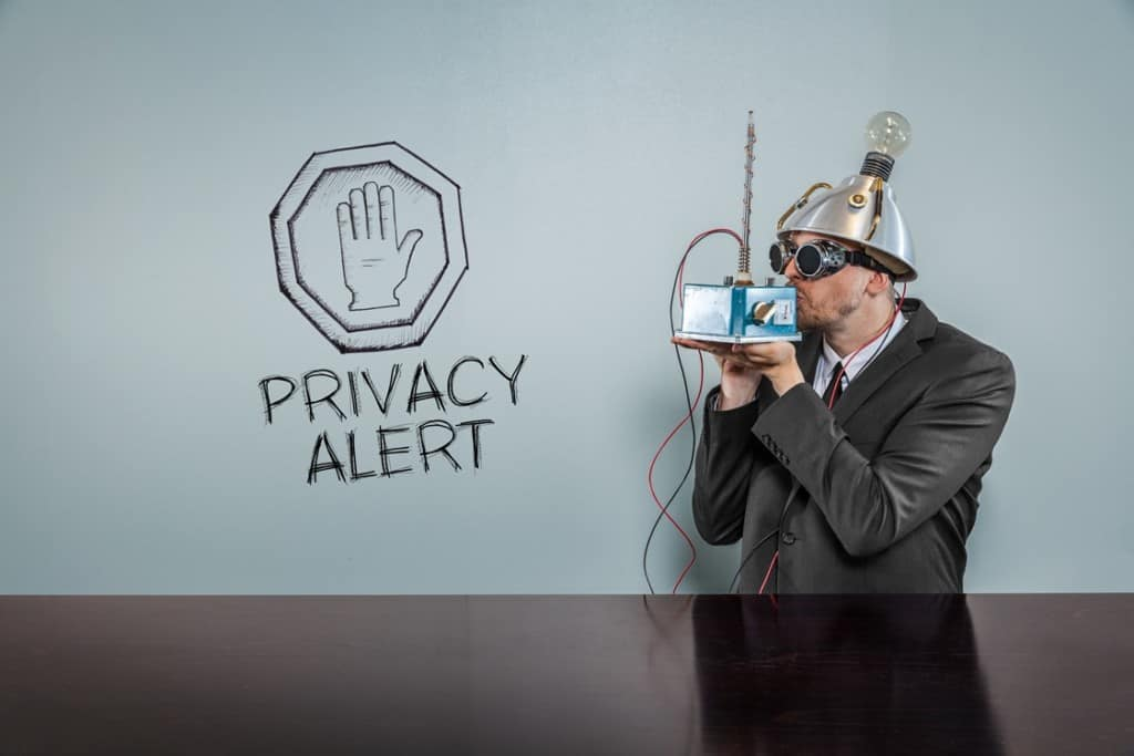 Privacy Funny Stock Photo