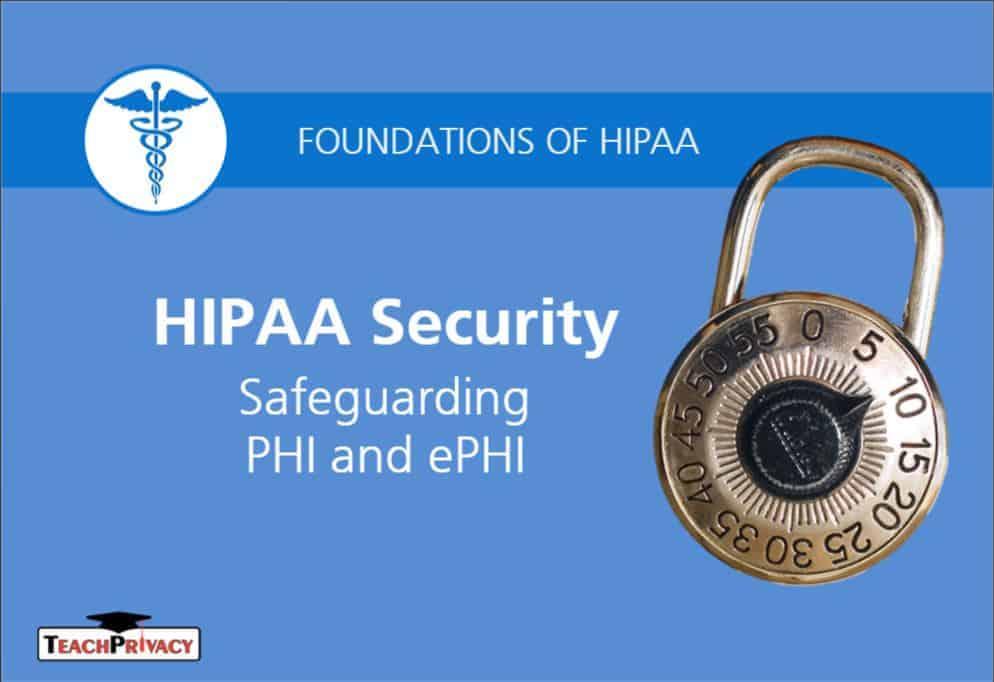 HIPAA Security Certificate