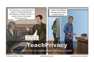 TeachPrivacy Cartoon - Home Assistant Devices