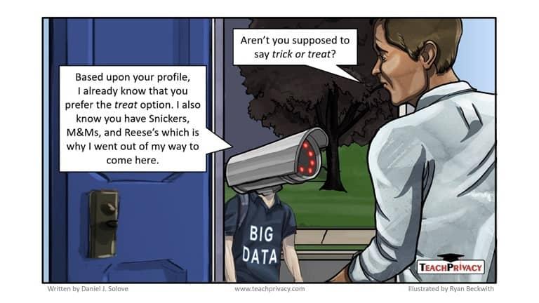 Cartoon Big Data Halloween - TeachPrivacy Privacy Training 02 small