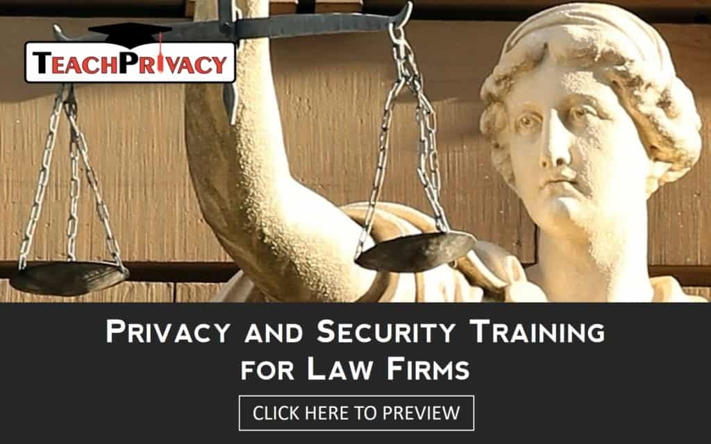 Law firm privacy and security training