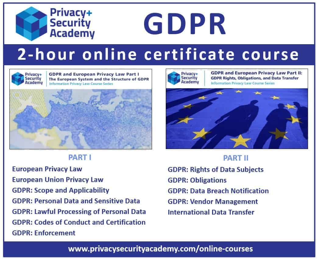 GDPR Online Certificate Course