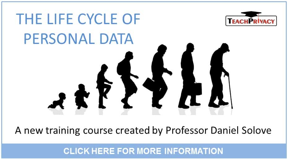 Privacy Training - Life Cycle of Personal Data