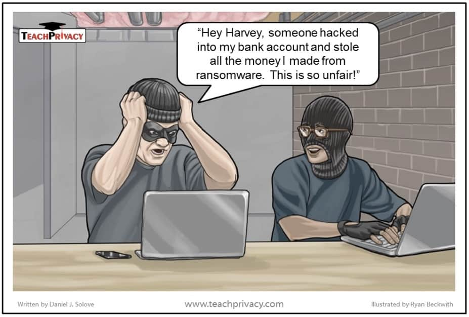 Ransomware cartoon
